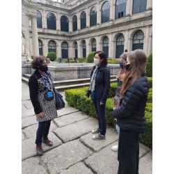 Mari Paz guiando en El Escorial