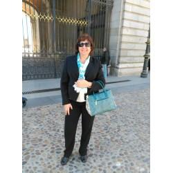 Elena en visita al Palacio Real de Madrid